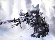 United_Kingdom bipod character:Cirno firearm:M14_EBR firearm:M4_carbine scope series:Touhou sling supressor vertical_foregrip // 1284x929 // 695.9KB