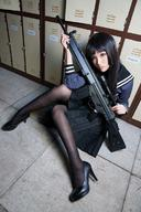 character:G3A3_(Upotte!!) cosplay firearm:G3A3 pantyhose photo scope series:Upotte!! // 493x740 // 314.8KB
