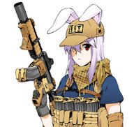 EOTech Magpul angled_foregrip ballcap firearm:M4_carbine holographic_sight series:Touhou shemagh sling // 1024x972 // 337.6KB