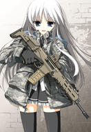 ACU EOTech firearm:Bushmaster_ACR holographic_sight thighhighs // 2331x3399 // 837.9KB