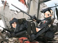 WWII ecchi firearm:MP-40 pantyhose strike_witches // 1600x1200 // 476.6KB