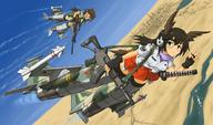 F-1 Howa fighter_jet firearm:Type_64 firearm:Type_89 katana sling strike_witches // 1300x764 // 345.1KB