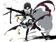 eyepatch firearm:MG42 maid thighhighs // 3680x2787 // 908.3KB